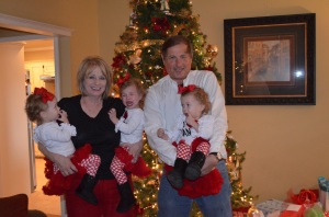 Mimi and Papa with girls at xmas