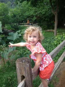 Avery at the zoo