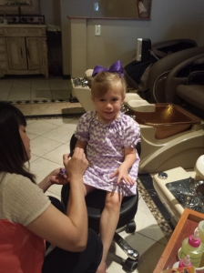 Camdyn first manicure