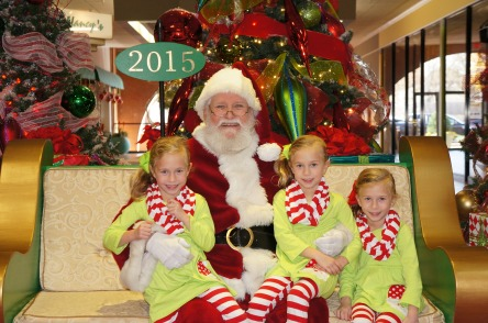 GIrls with Santa 2015